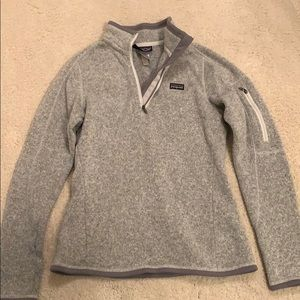 Patagonia grey quarter Better Sweater